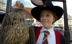 Un fan d'Harry Potter en juillet 2007, à Londres.