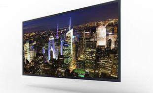 Le modèle de télévision nouvelle génération de Sony présenté au CES 2013 à LasVegas.