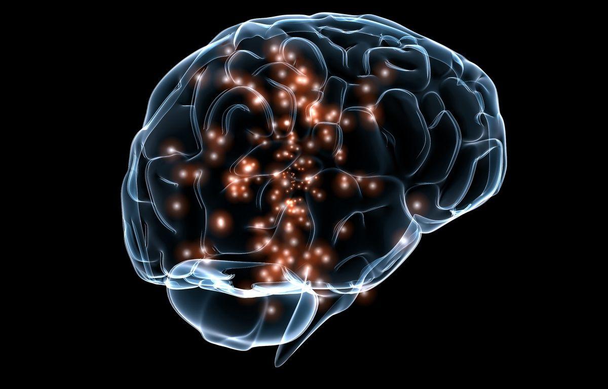 Illustration d'activité neuronale dans le cerveau. – DARPA