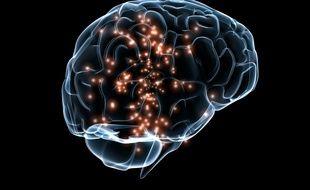 Illustration d'activité neuronale dans le cerveau.