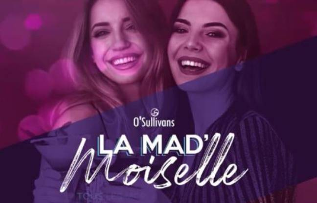Visuel officiel de la soirée du O'Sullivans Grands Boulevards, avec deux jeunes femmes souriantes