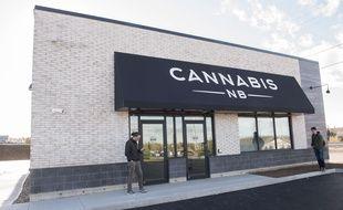 Un détaillant de cannabis au Nouveau-Brunswick (est du Canada), le 16 octobre 2018.