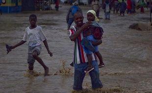 Une rue inondée à Leoganne, à 29km à l'ouest de Port au Prince, à Haïti, le 5 novembre 2010.