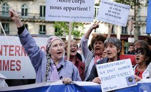 Lors d'une manifestation en faveur de l'IVG à Paris. (archives)