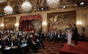 François Hollande en conférence de presse à l'Elysée, le 13 novembre 2012.