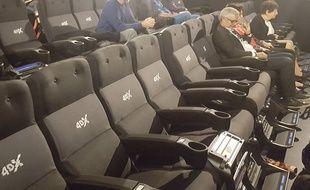 La salle 4XD du Gaumont multiplexe d'Odysseum est équipée de 123 fauteuils.