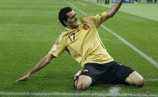 Daniel Güiza après son but lors de la demi-finale de l'Euro 2008, le 26 juin 2008.