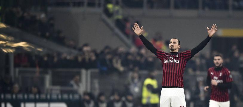 Zlatan Ibrahimovic, après avoir marqué contre l'Inter