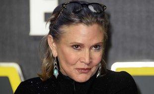Carrie Fisher, l'actrice de «Star Wars» le 16 décembre 2015.