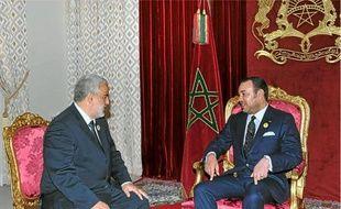 Abdelilah Benkirane (à g.), leader du PJD, a été nommé Premier ministre du Maroc hier par le roi Mohammed VI (à dr.).