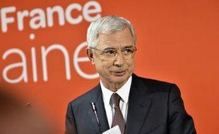 Claude Bartolone lors de son allocution au siège du PS le 13 décembre 2015 au soir des régionales à Paris