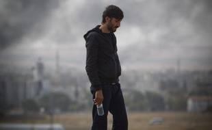 Daesh continue sa progression dans la ville de Kobané, et se rapproche de la frontière turque, le 10 octobre 2014.