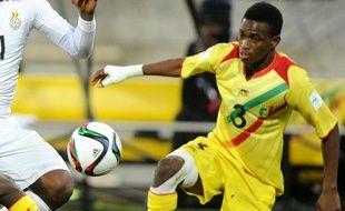 le joueur du RC Lens, Souleymane Diarra, sous les couleurs du Mali.