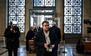 Le céréalier Paul Francois lors de son arrivée à la cour d'appel de Lyon, le 6 février 2019, dans son procès contre Monsanto.