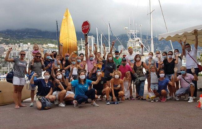 Le 6 septembre, Anaëlle Marot a fait étape à Monaco pour une journée de collecte de déchets plastiques.