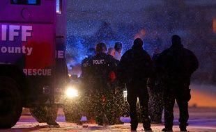 Le tireur présumé arrêté par la police après une fusillade près d'un planning familial à Colorado Springs, le 27 novembre 2015.