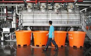Une usine de vêtements à Bozhou, dans l'est de la Chine, le 22 mai 2014