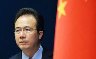 Hong Lei, porte-parole du ministère chinois des Affaires étrangères, le 22 mai 2015 à Pékin.