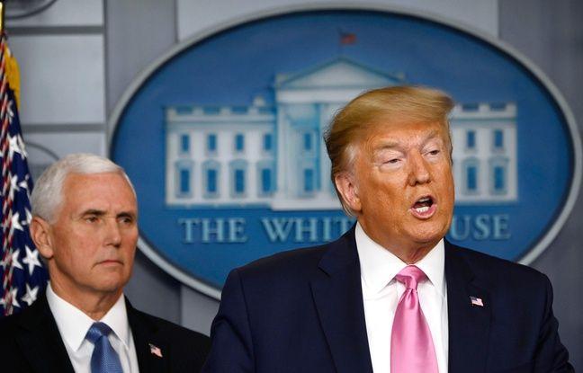 Coronavirus: Donald Trump conseille d'«échapper aux éternuements» le plus possible