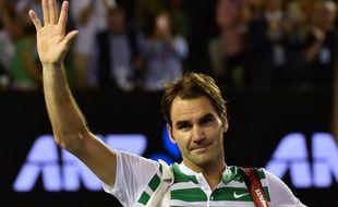 Le Suisse Roger Federer après sa défaite contre Novak Djokovic, le 28 janvier 2016, à Melbourne.