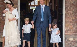 Le duc et la duchesse de Cambridge et leurs enfants, les princes Louis et George, et la princesse Charlotte