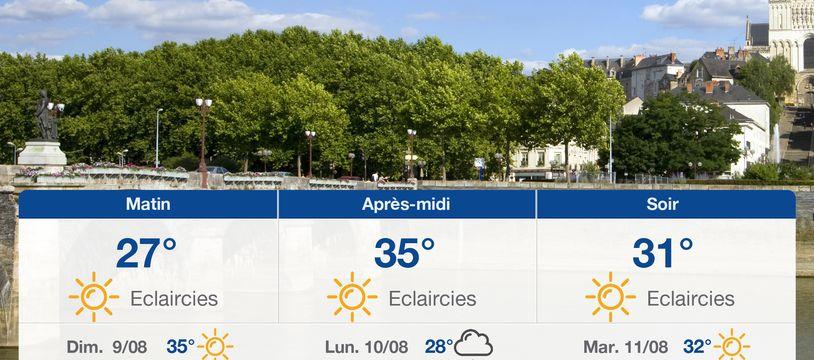 Météo Angers: Prévisions du samedi 8 août 2020