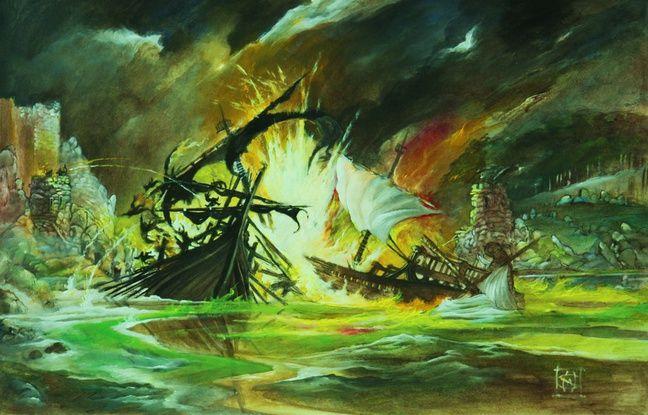 La bataille de Blackwater vue par William Simpson.