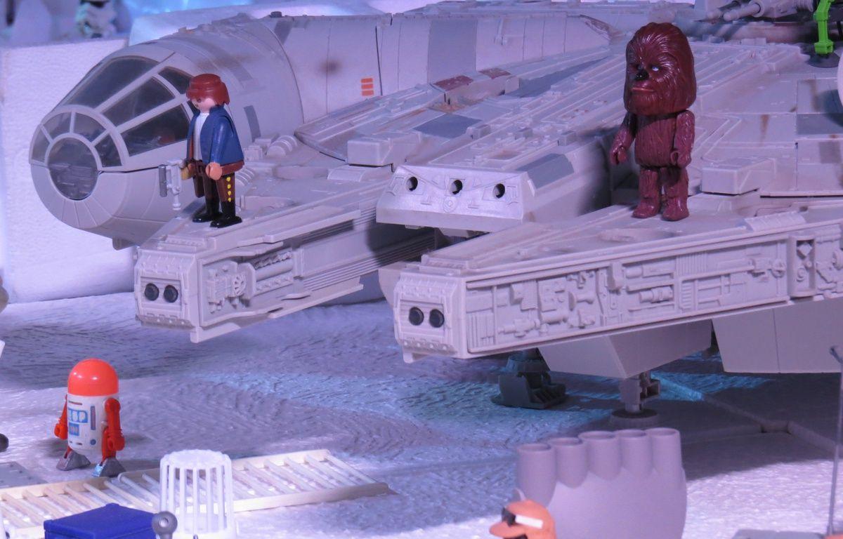 Mini World accueille jusqu'au 18 avril, une exposition consacrée aux Playmobil, à travers six films. Ici Star Wars – C. Girardon / 20 Minutes