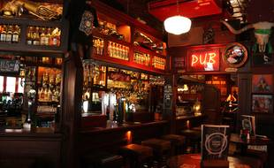 Un pub irlandais (illustration).