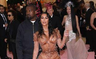 Les époux Kanye West et Kim Kardashian au Met Gala 2019