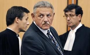 L'ancien maire de La Faute-sur-Mer, René Marratier lors du procès Xynthia, aux Sables-d'Olonne, le 15 septembre 2014