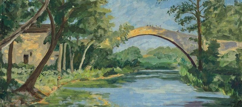 The Bridge at Aix en Provence / Sir Winston Churchill, O.M., R.A. (1874-1965)