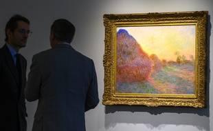 Ce Monet de la série des «Meules» a été vendu 110,7 millions de dollars à New York, le 14 mai 2019.