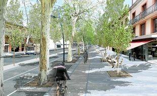 Des terrasses en gradins pourraient voir le jour à la Daurade, ainsi qu'une piste cyclable continue sur les boulevards.