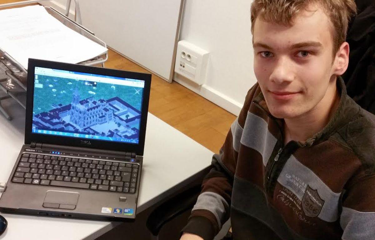 Des jeunes lycéens strasbourgeois reproduisent leur ville dans le jeu Minecraft. – A. Ighirri / 20 Minutes
