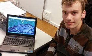 Des jeunes lycéens strasbourgeois reproduisent leur ville dans le jeu Minecraft.