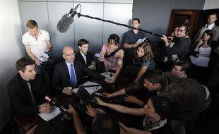 L'ancien procureur de Nantes, Xavier Ronsin, lors d'un point presse concernant l'affaire Dupont de Ligonnès en avril 2011.