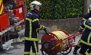 Des pompiers. Illustration.