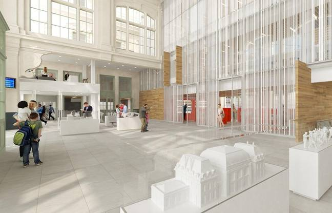 L'intérieur de La Station, après réhabilitation de l'ancienne gare SNCF de Saint-Omer.