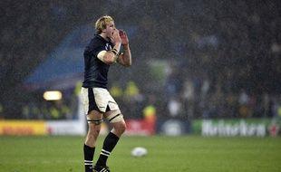 Le deuxième ligne écossais Richie Gray lors du quart de finale de Coupe du monde contre l'Australie, le 18 octobre 2015 à Twickenham.