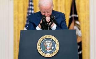 Joe Biden s'est exprimé après l'attaque terroriste qui a fait au moins 73 morts en Afghanistan le 26 août 2021.