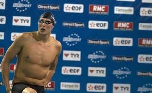 Le nageur français Amaury Leveaux, à Shiltigheim, le 23 mars 2011.