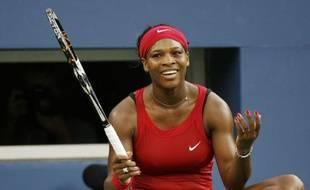 Serena Williams, lors de sa victoire en demi-finale du tournoi de l'US Open face à Dinara Safina, le 5 septembre 2008