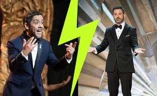 Manu Payet aux Césars et Jimmy Kimmel aux Oscars (montage)