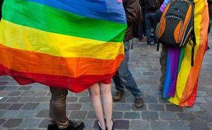 Des partisans du «mariage pour tous» à Paris, le 23 avril 2013.