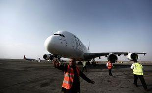 Le tarmac de l'aéroport de Téhéran le 30 septembre 2014