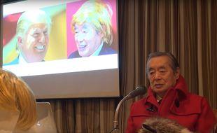 Yoshiro Nakamatsu alias Dr. Nakamats  lors de sa conférence de presse lundi 29 février.