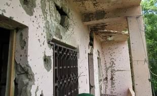 L'hôtel Byblos à Sévaré, au Mali, après l'attaque terroriste du 8 août.