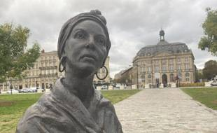 Quai des Chartrons, statue de Modeste Testas née Al Pouessi, esclave à Bordeaux aux 18e et 19e siècles.