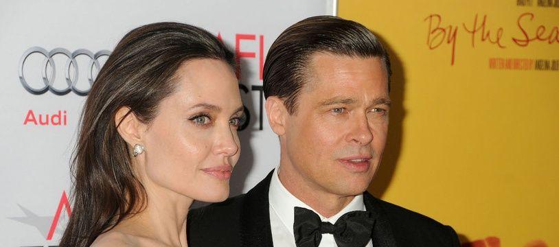 Les ex-époux Angelina Jolie et Brad Pitt du temps de leur mariage en 2015